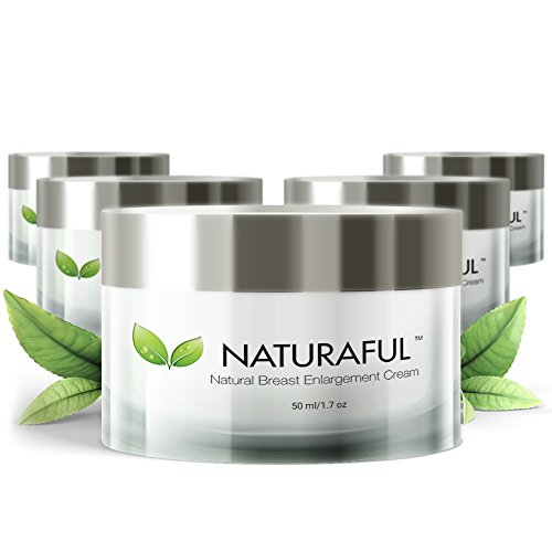 NATURAFUL - (5 JAR SUPPLY) TOP RATED Breast Enhancement Cream - Natural Breast Enlargement, Firming and Lifting Cream | Hormone Balancing, Made from Plant Extracts, Trusted by Over 100,000 Users