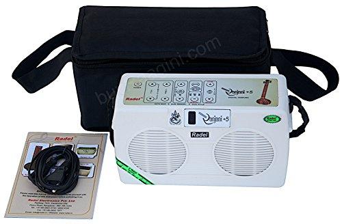 Electronic Tanpura - RADEL Saarang Ranjani Plus 5 Digital Tanpura, In USA, 5 Strings, Electronic Tambura Box, Instruction Manual, Bag, Power Cord (PDI-AEH)