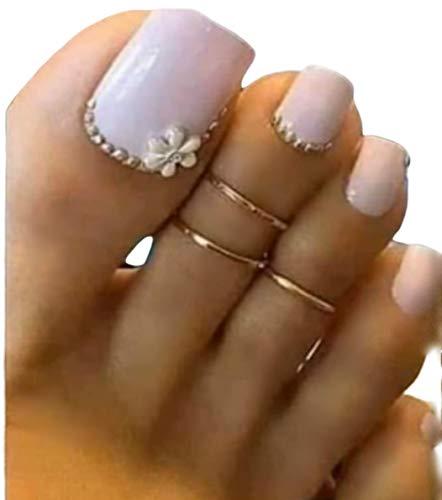 Gold Toe Ring, 14k Gold Filled 2 Rings, Toe Rings Adjustable, Toe Rings for Women