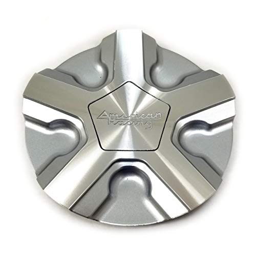 American Racing Machined Silver Wheel Center Hub Cap 6'OD Snap-In for 5x4.25 5x108 5x4.5 5x114.3 4x4.5 4x114.3 4x100 5x120 5x110 5x115 5x100 5x105 6x5 6x127 AR921 Trigger