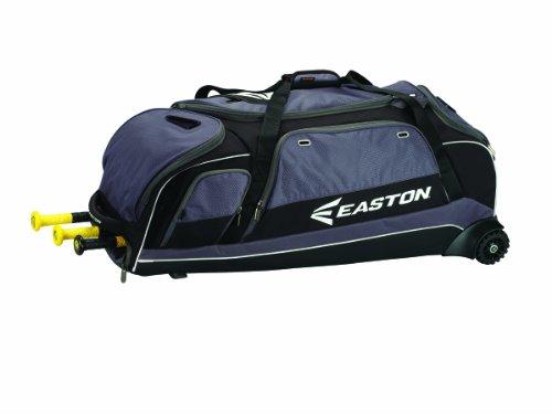 EASTON E900C Catchers Equipment & Bat Wheeled Bag | Baseball Softball | 2020 | Black | 3 Bat Compartment | Vented Pockets - Minimize Odor & Quick Dry | Lockable Zippered Pockets |Fence Hock