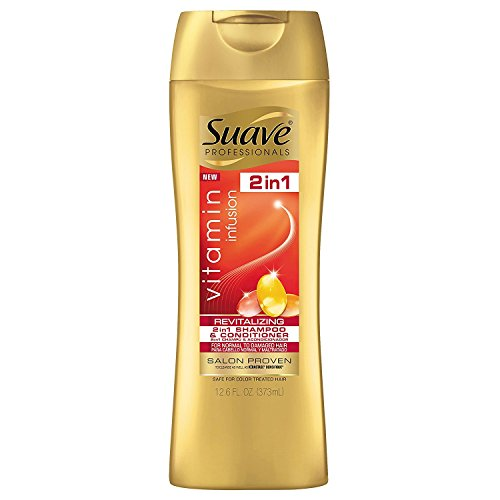 Suave Professionals 2-in-1 Shampoo and Conditioner, Vitamin Infusion, 12.6 Ounce
