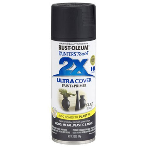 Rust-Oleum 249127 Painter's Touch Multi Purpose Spray Paint, 12-Ounce, Flat Black