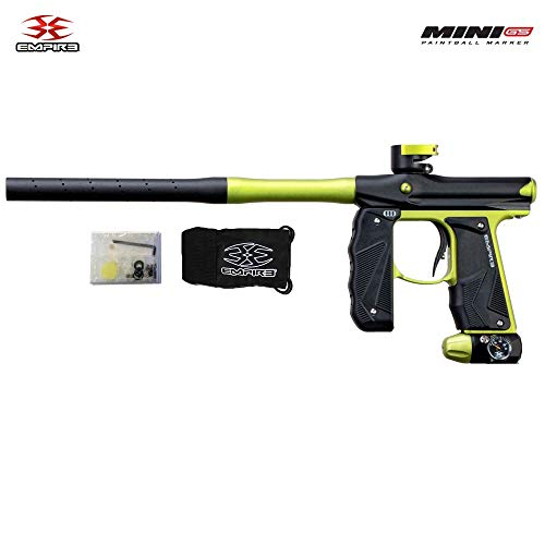 Empire Mini GS Paintball Gun - Dust Black/Neon Green 2-pc Barrel