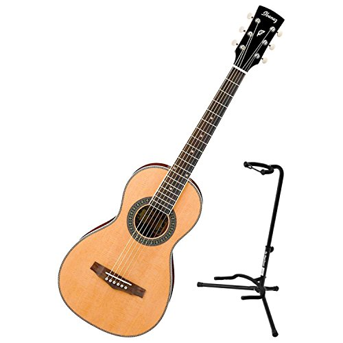 Ibanez PN1NT Natural High Gloss PF Performance Series Parlor Acoustic Guitar w/ Stand