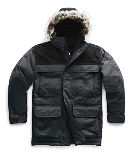 The North Face Men's McMurdo Parka III, Asphalt Grey/TNF Black/TNF Black, Medium