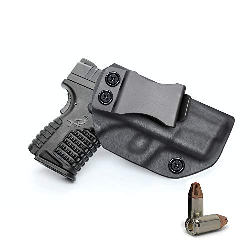 IWB KYDEX Holster By SphereSun, Fit Springfield XD-S 3.3' 9mm/.40S&W/.45ACP, Inside Waistband - Adjustable Cant - US KYDEX Made - Right Hand