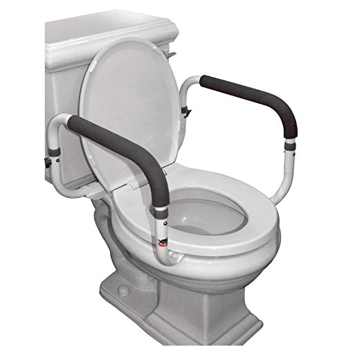 Carex Toilet Safety Frame - Toilet Safety Rails With Adjustable Width - Toilet Rails For Elderly, Handicap, Home Health Care Equipment After Surgery, Supports 300lbs
