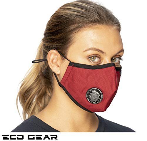 ECO-GEAR Anti Pollution Face Mask Particulate Respirator| Mask for Dust, Exhaust Gas, Smoke, Smog, Pollen and Fumes | Unisex Military Grade Washable Mouth Mask