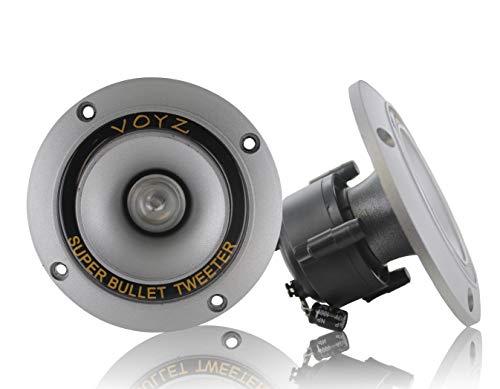 "VOYZ 300 Watt 3.5"" Piezo Super Horn Tweeters Aluminum Diaphragm 4-8 ohms 1 Pair (2pcs) (PET-1919L)"