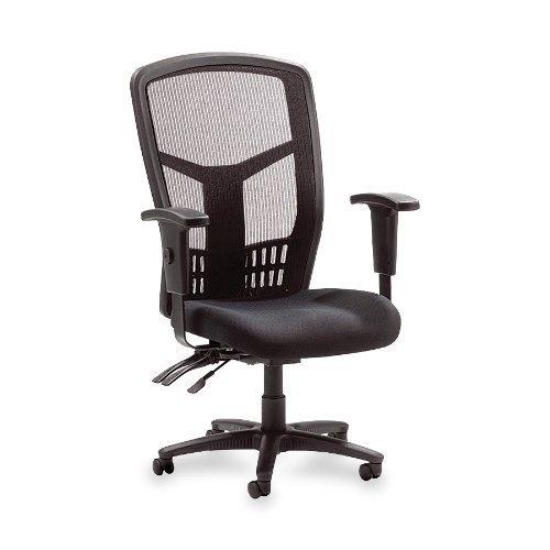 Lorell High-Back Chair Mesh Black Fabric Seat