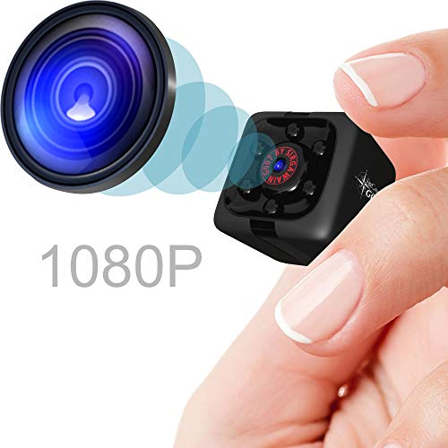 Mini Spy Camera 1080P Hidden Camera   Portable Small HD Nanny Cam with Night Vision and Motion Detection   Perfect Indoor Covert Security Camera for Home and Office   Hidden Spy Cam   Built-in Battery