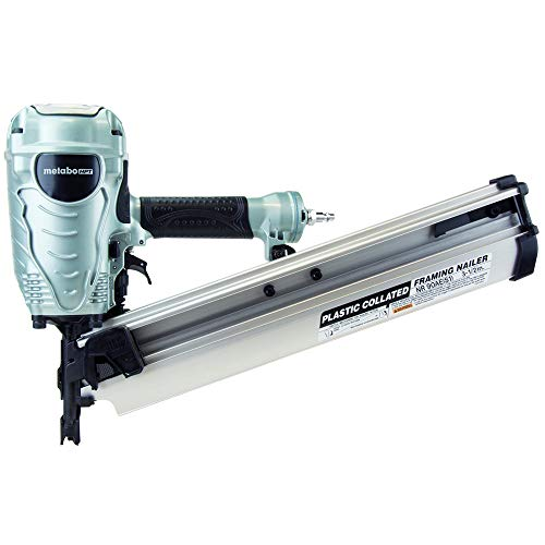 Metabo HPT Framing Nailer, The Pro Preferred Brand of Pneumatic Nailers, 21° Magazine, Accepts 2' to 3-1/2' Framing Nails, (NR90AES1)