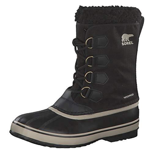 Sorel - Men's 1964 Pac Nylon Snow Boot for Winter, Black, Ancient Fossil, 10 M US