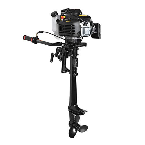 Enshey Boat Engine - New 4 Stroke 3.6 HP Outboard Motor 55CC Boat Engine with Air Cooling System