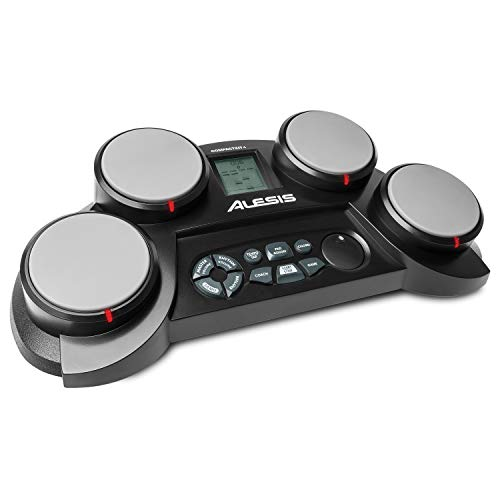 Alesis Compact Kit 4 | Portable 4-Pad Tabletop Electronic Drum Kit with Velocity-Sensitive Drum Pads, 70 Drum Sounds, Coaching Feature, Game Functions, Battery- or AC-Power and Drum Sticks Included
