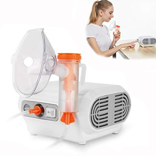 MAYLUCK Portable Compressor Nebulizer, Nebulizer Machine with 1 Set Accessory, Jet Nebulizers Personal Steam Inhaler Cool Mist Compressor System for Kids Adults