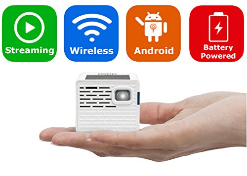 AAXA P2-A Android Smart LED Pico Projector – Support Full HD 1080P with HDMI, Android, WiFi and Bluetooth for Smartphone, iPhone, iPad, Gaming, Laptop, and Home Cinema