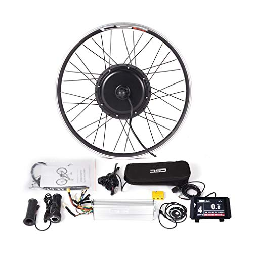 LOLTRA MTB Front Wheel Conversion Kit for 20'/24'/26'/27.6'/28'/29'/700C Mountain Eletric Bicycle(LCD8, 48v 1500w 29in)