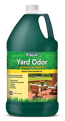 NaturVet - Yard Odor Eliminator - Eliminate Stool and Urine Odors from Lawn and Yard - Designed For Use on Grass, Plants, Patios, Gravel, Concrete & More - 64 oz Refill