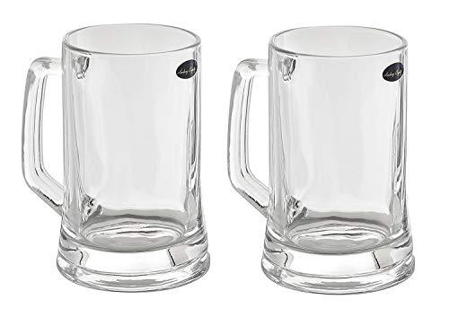Amlong Crystal Lead-Free Beer Mug - 12 oz (Right For 1 Bottle), Set of 2