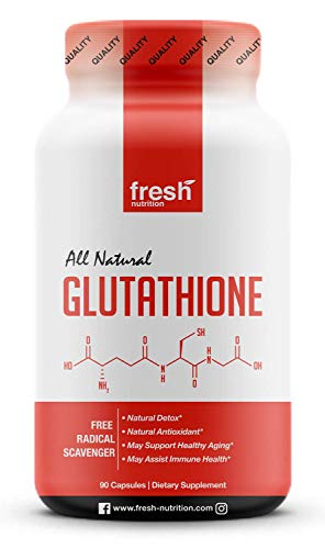 Glutathione Supplement - Strongest DNA Verified Glutathione Reduced - Natural Skin Whitening Anti-Aging Benefits – Liver, Immune and Brain Function - Vegan Friendly, Non GMO, Gluten & Soy Free