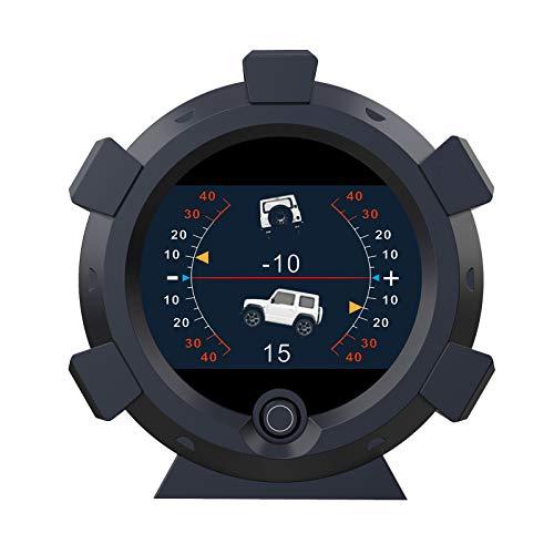 AUTOOL X95 GPS Slope Meter Car Inclinometer Level Tilt Gauge, Car HUD GPS Speedometer MPH Car Electronic Compass Clinometer Indicator, Digital Inclinometer Car Angle Slope Meter for Off-Road Vehicle