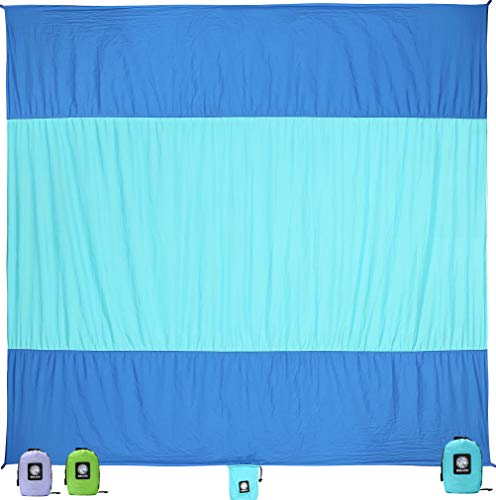Wekapo Sand Proof Beach Blanket (Blue)