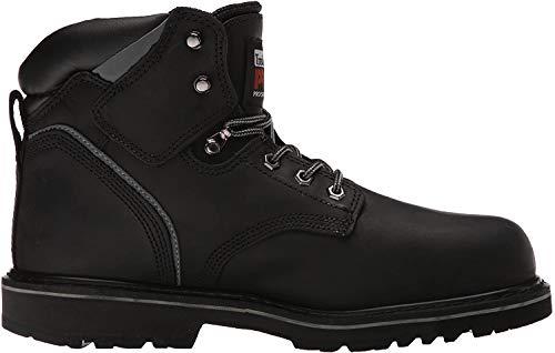 Timberland PRO Men's Pitboss 6' Steel-Toe Boot, Black , 10.5 EE - Wide