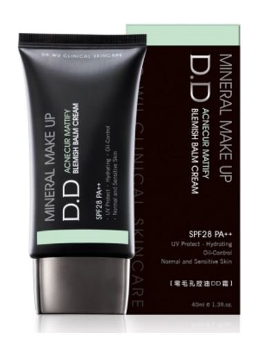 Dr.Wu Mineral Make Up DD Blemish Balm Cream PF28 PA++ 40ml (Acnecur Mattify DD Blemish Balm Cream)