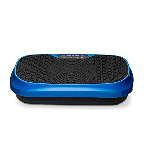 LifePro Waver Mini Vibration Plate - Whole Body Vibration Platform Exercise Machine - Home & Travel Workout Equipment for Weight Loss, Toning & Wellness - Max User Weight 260lbs (Blue)