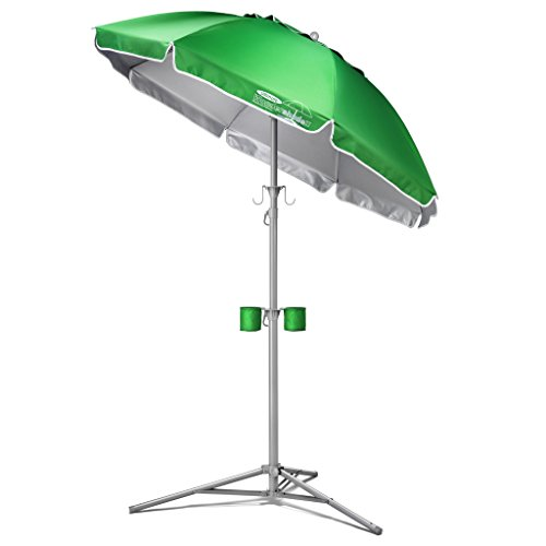 Wondershade Ultimate Portable Sun Shade Umbrella, Lightweight Adjustable Instant Sun Protection - Green