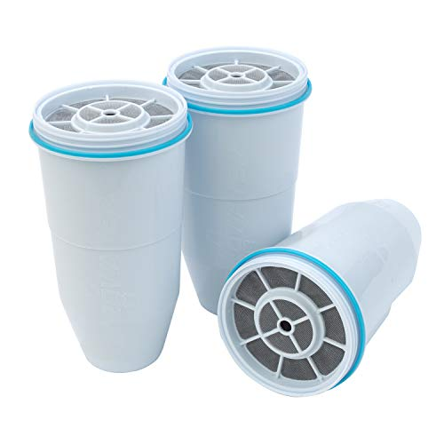 ZeroWater Replacement Filters 3-Pack BPA-Free Replacement Water Filters for ZeroWater Pitchers and Dispensers NSF Certified to Reduce Lead and Other Heavy Metals