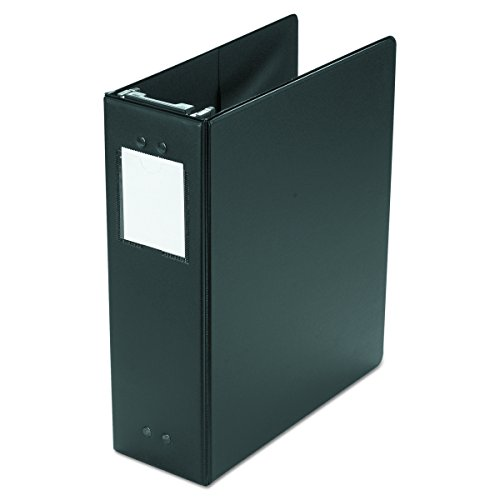 Wilson Jones 36549B Large Capacity Hanging Post Binder, 3' Cap, Black
