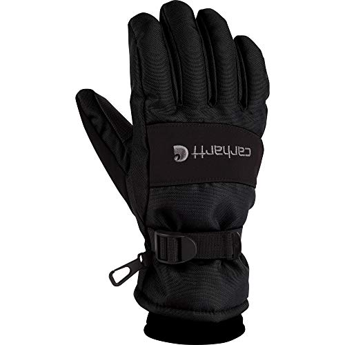 Carhartt Men's WP Waterproof Insulated Glove, Black, Large