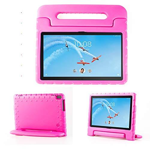 TIRIN Lenovo TAB 4 10 Plus Case- Light Weight EVA Shock Proof Convertible Handle Stand Case Cover for Lenovo TAB 4 10 Plus 2017 Tablet(TB-X704F/N)(NOT fit Lenovo TAB 4 10 Tablet TB-X304F/N), Rose