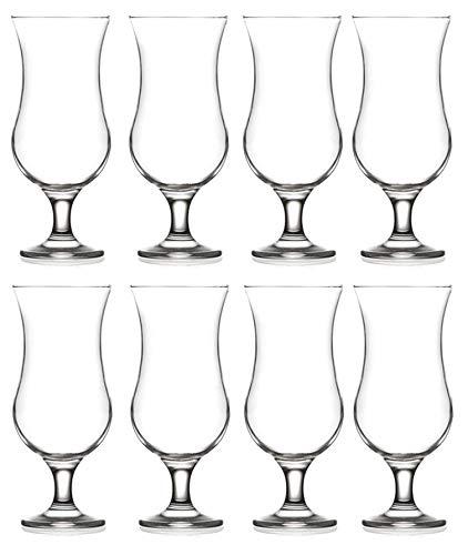 Epure Collection 8 Piece Glass Drinkware Set (Pina Colada (15.5 oz))