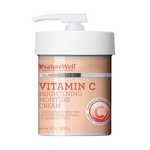 NatureWell Vitamin C Brightening Moisture Cream for Face & Body, 16 oz   Clinical   Provides Lasting Hydration & Visibly Enhances Skin Tone