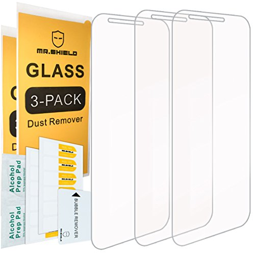 [3-Pack]-Mr.Shield for LG Stylo 3 Plus [Tempered Glass] Screen Protector with Lifetime Replacement
