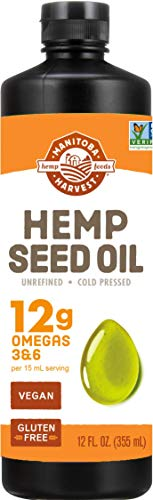 Manitoba Harvest Hemp Seed Oil, 12g of Omegas 3&6 Per Serving, Non-GMO, Vegan, Gluten-Free 12 Fl Oz