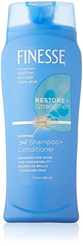 Finesse Self Adjusting 2 in 1 Texture Enhancing Shampoo and Unisex Conditioner, 13 Ounce