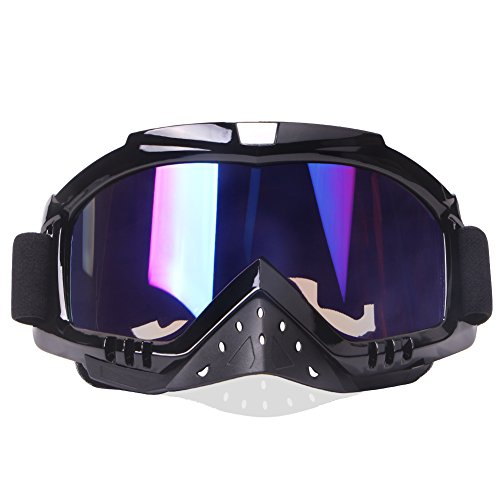 Motocross Goggles Motorcycle Goggles Grip For Helmet Dmeixs Anti UV Windproof Dustproof Anti Fog Glasses for ATV Off Road Racing with Cool Look Headwear Colorful Lens 2 in 1