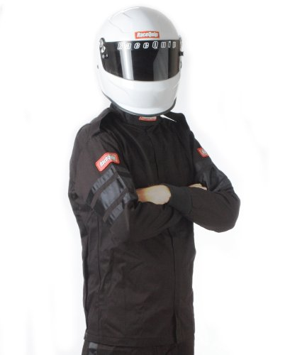 RaceQuip 111006 111 Series X-Large Black SFI 3.2A/1 Single Layer Driving Jacket