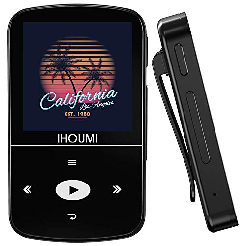 32GB MP3 Player, IHOUMI MP3 Player with Bluetooth, Portable Music Player with Clip, Sport Pedometer, FM Radio, Vioce Recorder, HiFi Lossless Sound, Expandable up to 64GB.