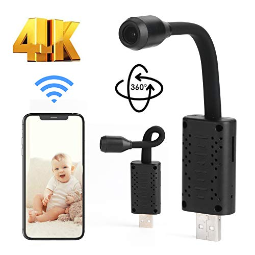 The Smallest WiFi Hidden Camera Mini HD Portable IP Wireless Home Security Camera with USB Charger Motion Detection Perfect Indoor and Outdoor Tiny Covert for Indoor Security Inside Spying