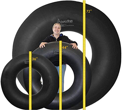 Bradley 44' Rubber Snow Tube | River Rafting, Sledding Float | Pool Closing Inner Tube | Truck Inner Tubes