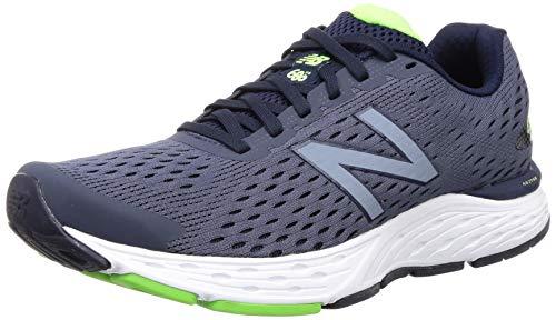 New Balance Men's 680 V6 Running Shoe, Pigment/RGB Green, 11.5 M US
