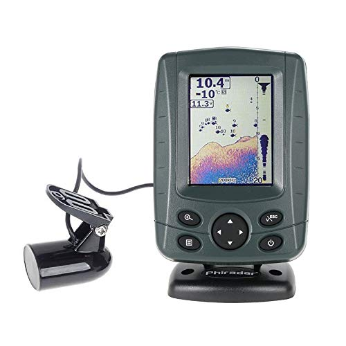 JOYWEE FF688C 3.5' Phiradar Color LCD Boat Fish Finder 200KHz/83KHz Dual Sonar Frequency 300M Detection Muti-Language Auto Zoom
