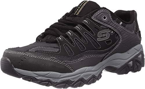 Skechers Men's AFTERBURNM.FIT Memory Foam Lace-Up Sneaker, Black, 11 4E US