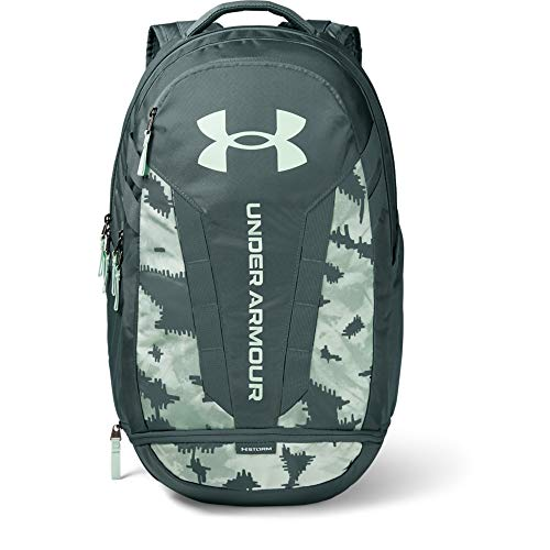 Under Armour Adult Hustle 5.0 Backpack , Lichen Blue (425)/Seaglass Blue , One Size Fits All